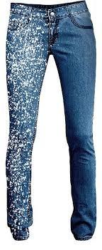 Разнообразный декор джинсов: вышивка, роспись, кружево ...