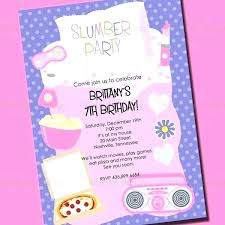 How To Make A Sleepover Invitation Girls Sleepover Invitations Pajama Party Birthday Invitation Slumber
