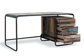 reclaimed wood office desk. Luxury Reclaimed Wood Office Desk Ideas : Impressive 1630 Urban \u0026 Cast Iron With Drawers Design