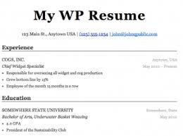WP Resume