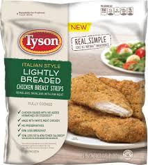 Tyson Naturals Lightly Breaded Chicken Strips Buy Tyson Lightly Breaded Chicken Breast Strips 24 Oz In