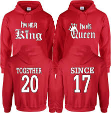 Couple Jacket Design Amazon Com King And Queen Hoodies Couple Design Together
