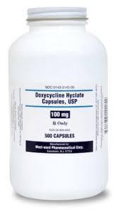 Doxycycline 100mg 500 Capsules