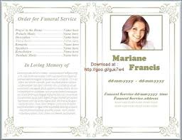 Free Funeral Program Templates Download Enchanting Blank Funeral Program Template Free Awesome Free Funeral Program
