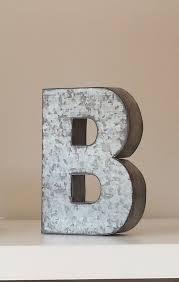 large metal letter zinc steel