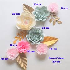 Giant Paper Flower Backdrop 2019 Giant Paper Flowers Backdrop Artificial Handmade Crepe Paper