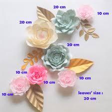 Paper Flower Backdrop Garland Giant Paper Flowers Backdrop Artificial Handmade Crepe Paper Rose 5