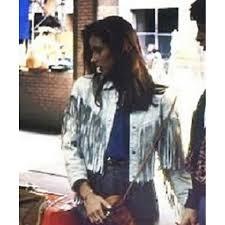 sloane peterson white leather fringe jacket