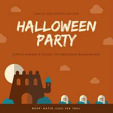 Orange Halloween Costume Party Invitation Templates By Canva