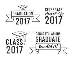 congratulations to graduate congratulations graduate 2017 graduation set stock vector