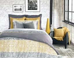 grey and yellow bedding nz duvet cover set