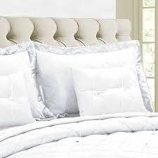 5 piece white diamond quilted comforter set