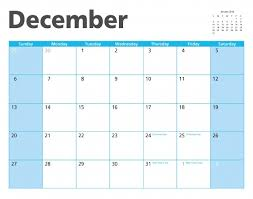December 2015 Calendar Page Free Stock Photo Public Domain Pictures