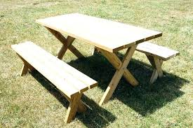 wooden picnic tables with separate benches wooden picnic table round wood picnic table picnic table plans