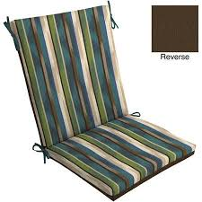 mainstays outdoor chair cushion green blue stripe