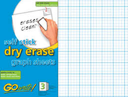 Graph Paper Sheets Self Stick Dry Erase Gowrite