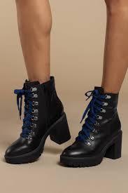 steve madden royce black leather combat boots