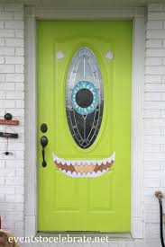 Halloween Door Decoration - Mike Wazowski