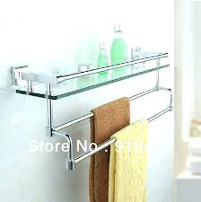 glass shelf with towel bar glass shelf with towel bar bathroom shelf with towel bar oil