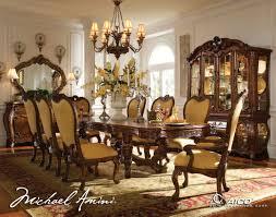 Michael Amini Living Room Set Aico Palais Royale 8pc Rectangular Dining Room Set In Rococo