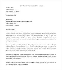 Termination Letter Description Inspiration Download Early Probation Termination Letter Template Sample Uk