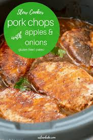 crockpot pork chops with apples and