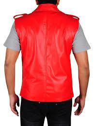men red brando leather vest brando red leather vest