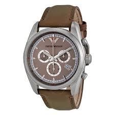 emporio armani sportivo cream dial taupe leather strap men s watch emporio armani sportivo cream dial taupe leather strap men s watch ar6040