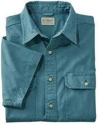 l l bean l l bean men s sunwashed canvas shirt traditional fit short sleeve