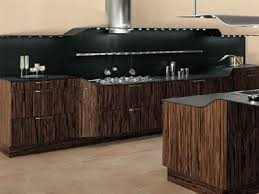 Modern Kitchen Cabinets Black White and Brown Color Schemes