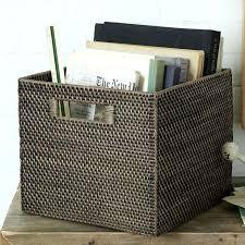 office storage baskets. Storage Bins And Baskets Impressive Office Modern Weave Bin West Elm . T