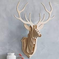 sweet looking white deer head wall decor house interiors modern home ideas stag design idea faux