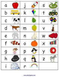 Free Printable Alphabets Chart With Pictures Alphabet For
