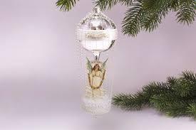 Antik Style Ballon Mit Engel A Merry Christmas Mit Leonischem Draht Umsponnen Ca H 17cm X B 6cm