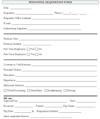 employment requisition form template new hire paperwork template car document danilenko info
