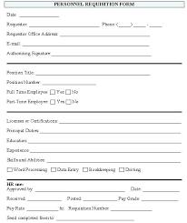 employment requisition form template new hire paperwork template car document danilenko info