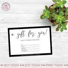 Custom Gift Certificate Templates Free Modern Gift Certificate Printable Custom Gift Certificate Template Downloadable Gift Card Etsy Gift Card Printable Design Gift Receipt
