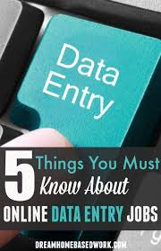 best work from home jobs images finance  5 things you must know about online data entry jobs