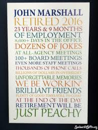 personalized retirement on canvas thoughtful gift idea