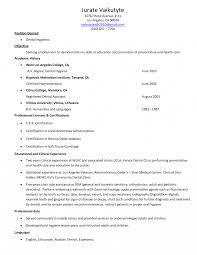 Pediatric Dentist Resume Examples Dental Assistant Hygienist