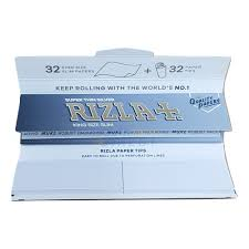 Rizla Silver King Size Combi Pack 32 King Size Papers 32 Paper Tips