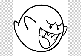 Super Mario Bros Wii Bowser King Boo Coloring Pages Png Clipart