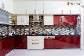 kitchen design images. Exellent Design L Shape Kitchen With Red U0026 White Cabinets With Kitchen Design Images E