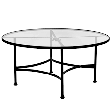 ow lee classico 54 inch round glass top dining table