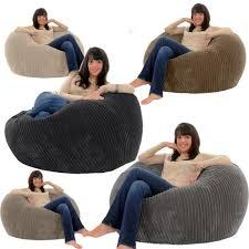 gilda jumbo cord monster beanbag chair giant big bean adult bag