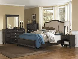 Transitional Style Living Room Furniture Sumptuous Curved Headboard Queen Bed As Well As Dark Wood Vanities
