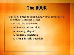 hooks ideas essay hooks ideas