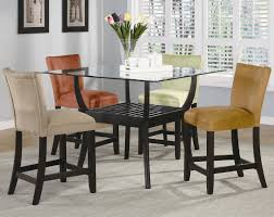 gl top dining table set 4 chairs new bloomfield 5 piece counter height dining set by
