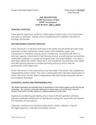 Maintenance Technician Job Description Resume Therpgmovie
