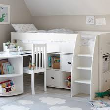 QUICKSHOP: Merlin Mid Sleeper Bed, Storage Units & Pull-out Desk - Cabin